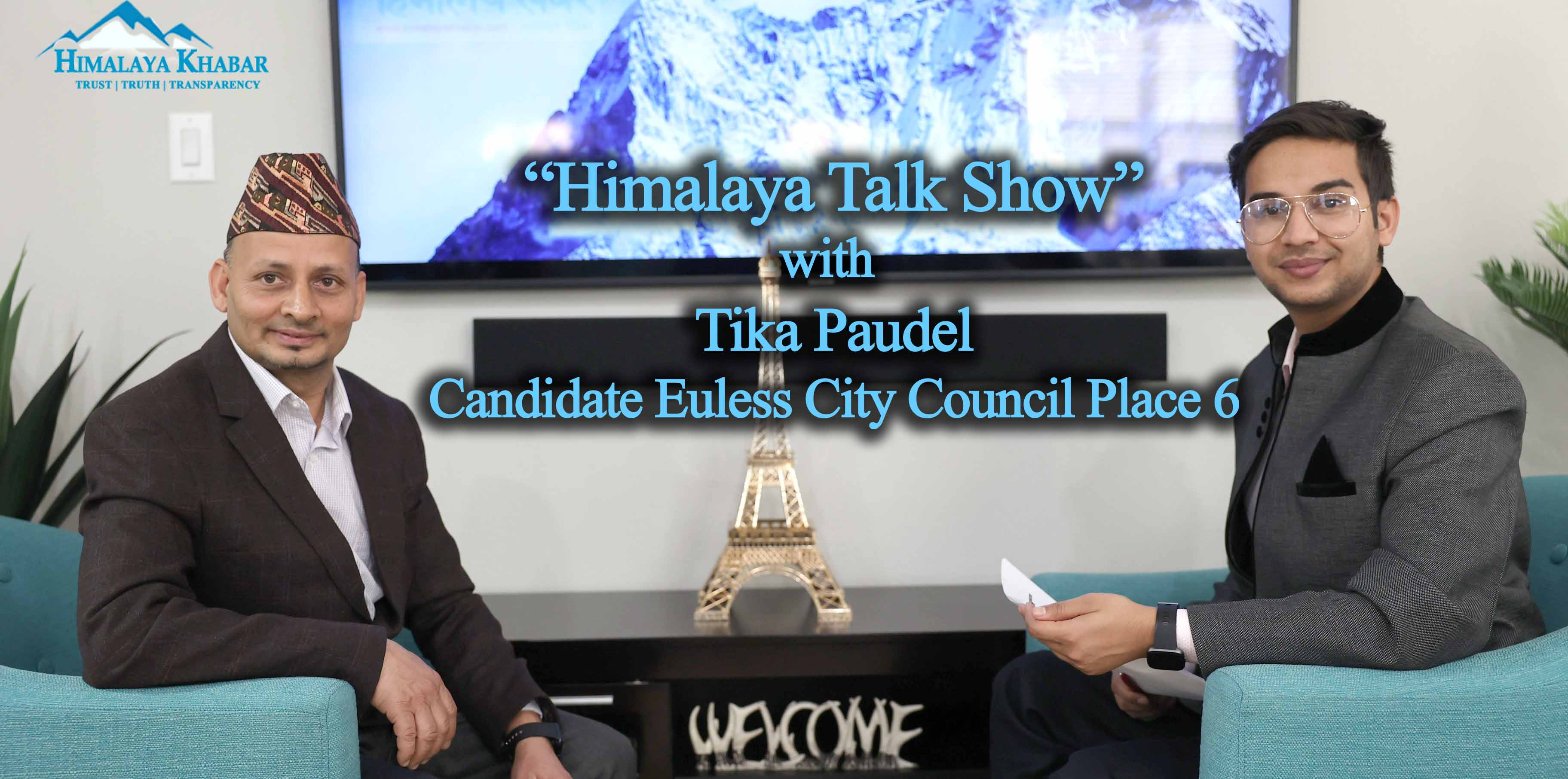 Himalaya Talk Show with Tika Paudel | Candidate Euless City Council Place 6